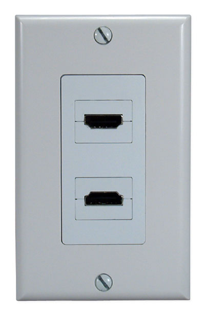 HDMI 2 PORT WALLPLATE