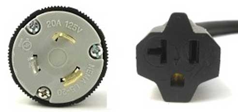 CABLEK POWER CORDS, POWER CABLES, L5-520P TO 5-20R