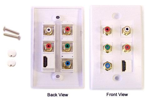 Component video, HDMI, Audio wall plate