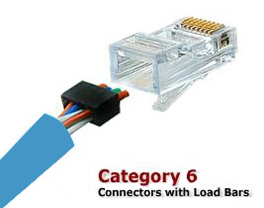 Cat6 RJ45 plug with Load Bar cablek connectors