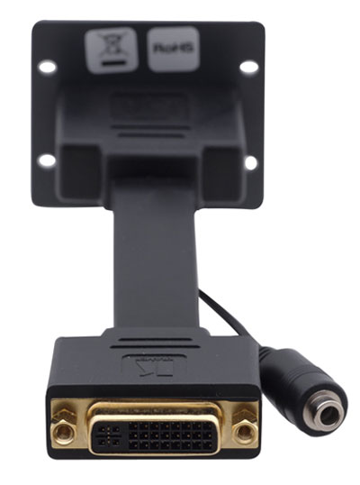 DVI VIDEO 3.5MM AUDIO WALL PLATE INSERT CABLEK