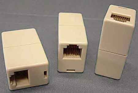 couplers, telephone gender changers, rj adapters cablek