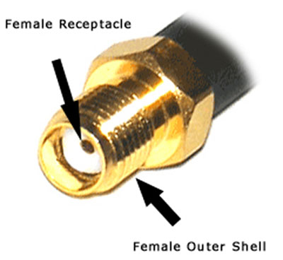sma female connector used in Cablek's  LMR195 LMR400 low loss antenna cables
