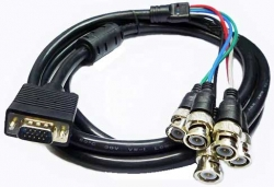 HI-RESOLUTION VGA TO 5 BNC VIDEO CABLES (RGBHV)
