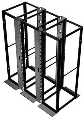 hammond DC4RG 4 post server rack open cabinet from cablek