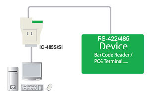 RS-232 to RS-485/RS-422 Bidirectional Converter Cablek CON/IC-485